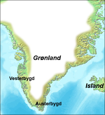 The Norse colonies on Greenland: Austerbygd and Vesterbygd