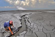 Photo of The Lusi eruption, Java, Indonesia. Photo by Photo: Adriano Mazzini/CEED/UiO.